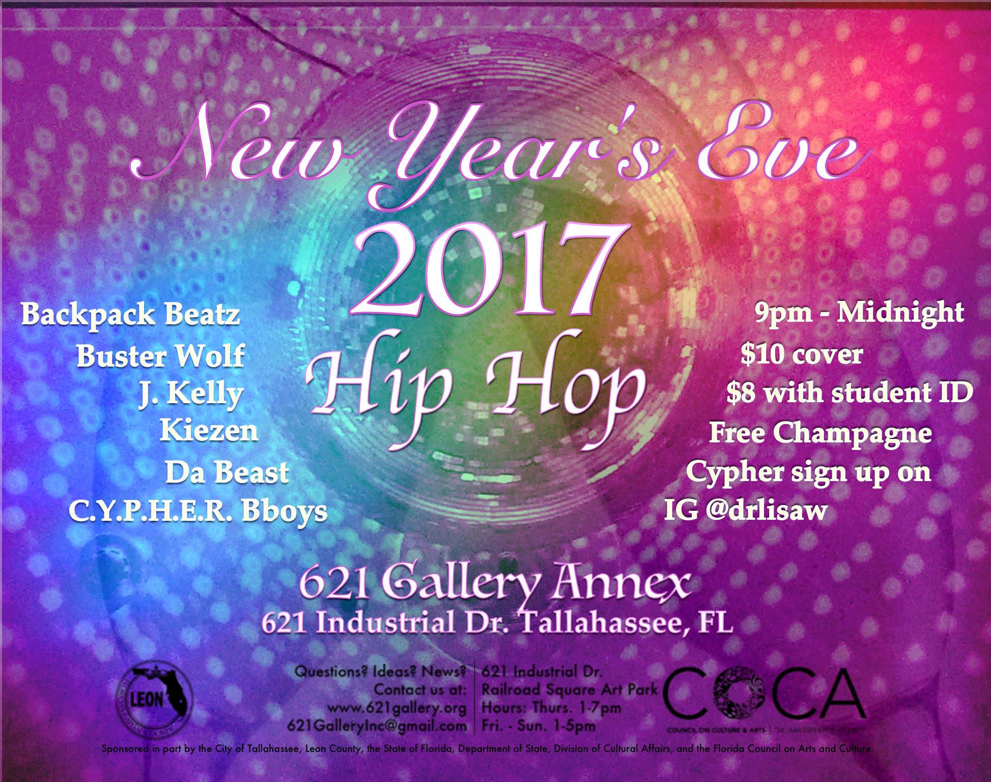 621 Gallery Presents: New Years Eve Hip Hop | 621 ANNEX