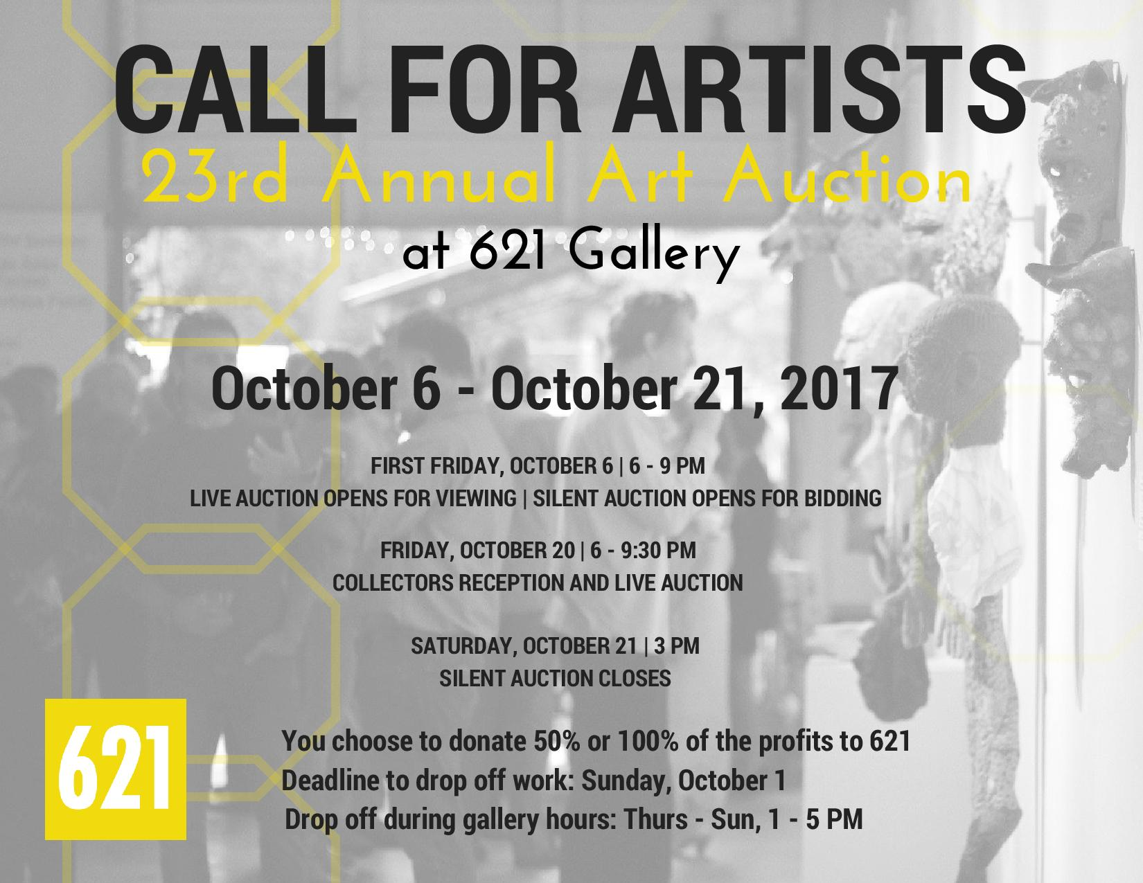 Call For Artists! | 621 Gallery